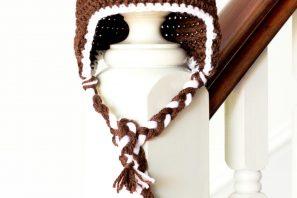 Baby Football Earflap Hat Crochet Pattern