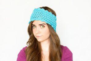 Dainty Scalloped Ear Warmer Crochet Pattern