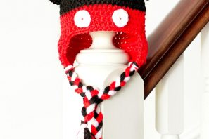 Mickey Mouse Inspired Baby Hat Crochet Pattern