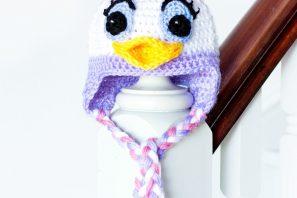 Daisy Duck Inspired Baby Hat Crochet Pattern