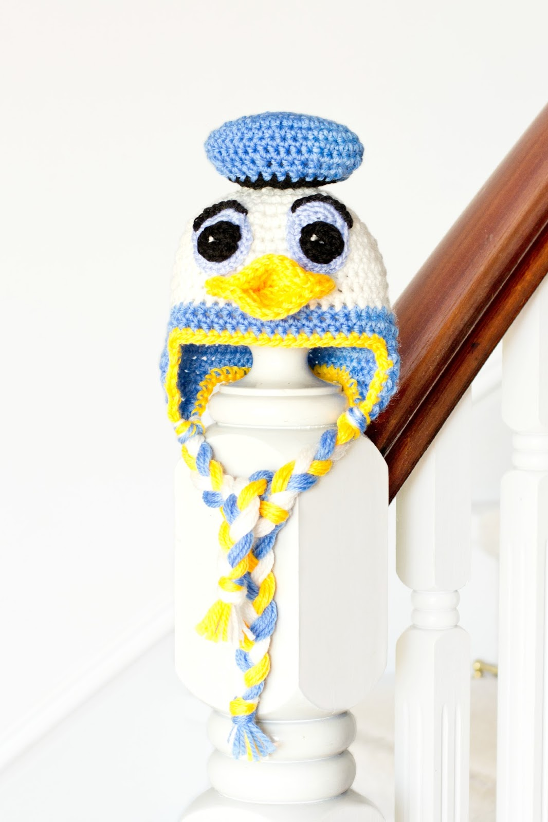 Donald Duck Inspired Baby Hat Crochet Pattern