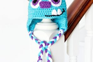Monsters Inc. Sulley Inspired Baby Hat Crochet Pattern
