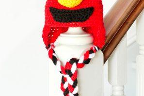 Sesame Street Elmo Inspired Baby Hat Crochet Pattern