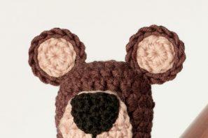 Newborn Teddy Bear Hat Crochet Pattern