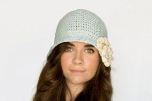 1920's Snowflake Cloche Hat Crochet Pattern