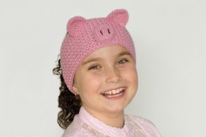 Pretty Pig Headband Crochet Pattern