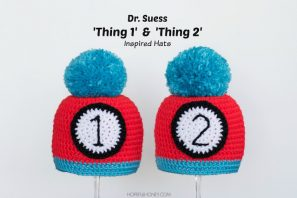 """""""Thing 1"""" and """"Thing 2"""" Inspired Baby Hat Crochet Pattern"""