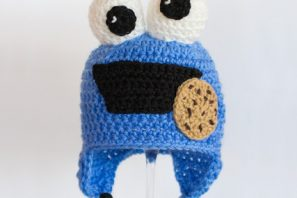 Cookie Monster Inspired Baby Hat Crochet Pattern
