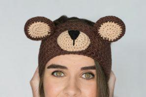 Teddy Bear Headband Crochet Pattern