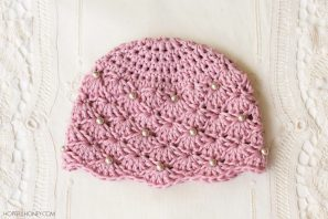 Vintage Pearl Baby Hat Crochet Pattern