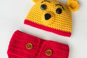 Winnie The Pooh Inspired Hat & Diaper Cover – Free Crochet Pattern