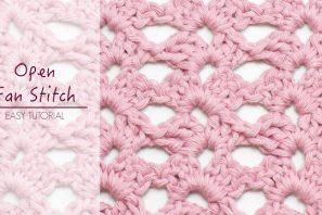 How To: Crochet The Open Fan Stitch