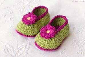 Fairy Blossom Baby Booties Crochet Pattern