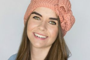 Peaches & Cream French Beret – Crochet Pattern + Giveaway
