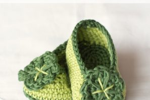 St Patricks Day Shamrock Baby Booties – Free Crochet Pattern