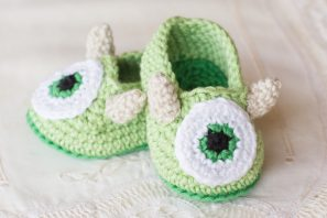 Friendly Monster Baby Booties Crochet Pattern