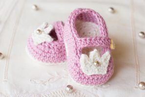 Princess Charlotte Baby Booties Crochet Pattern