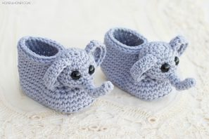 Ellie The Elephant Baby Booties Crochet Pattern