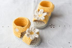Daisy Delight Baby Sandals Crochet Pattern
