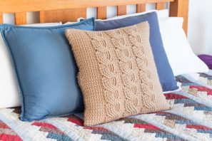 Cabled Throw Cushion Cover Crochet Pattern
