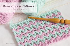 How To: Crochet The Double Crochet V Stitch – Easy Tutorial