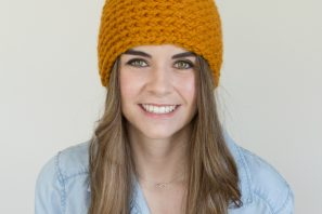 Toffee Apple Pompom Beanie  Crochet Pattern