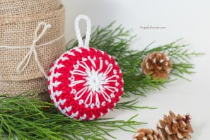 Candy Cane Christmas Bauble Crochet Pattern