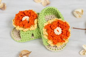 Marigold Baby Sandals Crochet Pattern