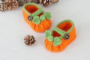 Pumpkin Spice Baby Booties Crochet Pattern
