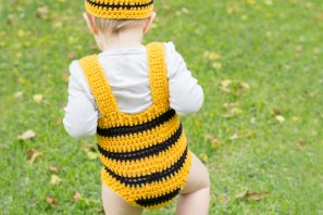 Bumble Bee Baby Hat & Playsuit Set Crochet Pattern