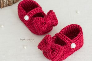 Ruby Red Mary Jane Booties Crochet Pattern