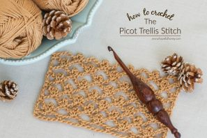 How To: Crochet The Picot Trellis Stitch – Easy Tutorial