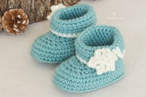 Winter Wonderland Baby Booties – Crochet Pattern