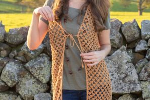 Whispering Birch Bohemian Vest – Crochet Pattern