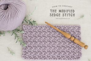 How To: Crochet The Modified Sedge Stitch – Easy Tutorial
