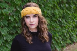 Goldfinch Braided Headband Crochet Pattern