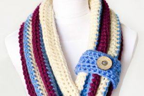 Chunky Button Cowl Crochet Pattern