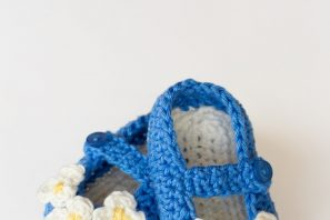 Vintage Mary Jane Baby Booties Crochet Pattern