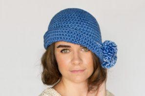 1920's Pompom Cloche Hat Crochet Pattern