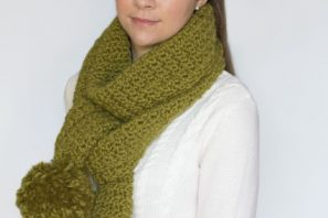 Chunky Cottontail Scarf Crochet Pattern