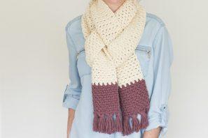 Tasseled Chunky Scarf – Crochet Pattern
