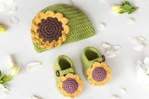 Sunflower Baby Hat Crochet Pattern