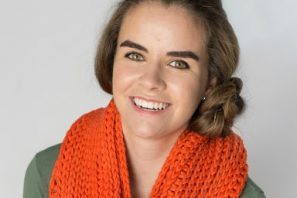 Ribbed Chunky Infinity Scarf – Free Crochet Pattern