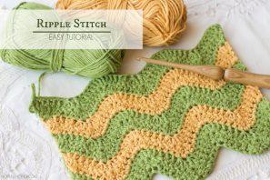 How To: Crochet The Ripple (Chevron) Stitch – Easy Tutorial