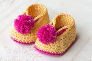 Lollipop Circus Baby Booties Crochet Pattern