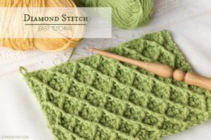 How To: Crochet The Diamond Stitch – Easy Tutorial