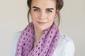 Lavender Valley Scarf – Crochet Pattern + Giveaway