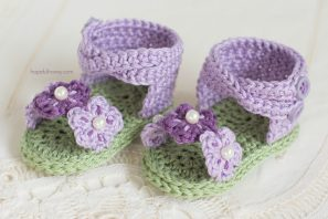 English Violet Baby Sandals – Giveaway + Crochet Pattern