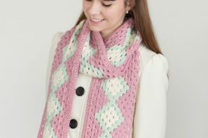 Cotton Candy Pompom Scarf – Giveaway + Crochet Pattern