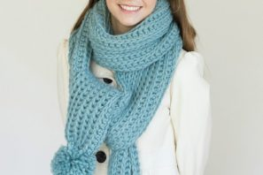 Himalayan Mist Chunky Ribbed Scarf – Giveaway + Crochet Pattern